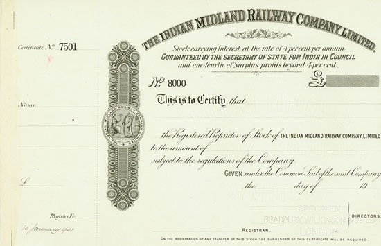 Indian Midland Railway Company, Limited