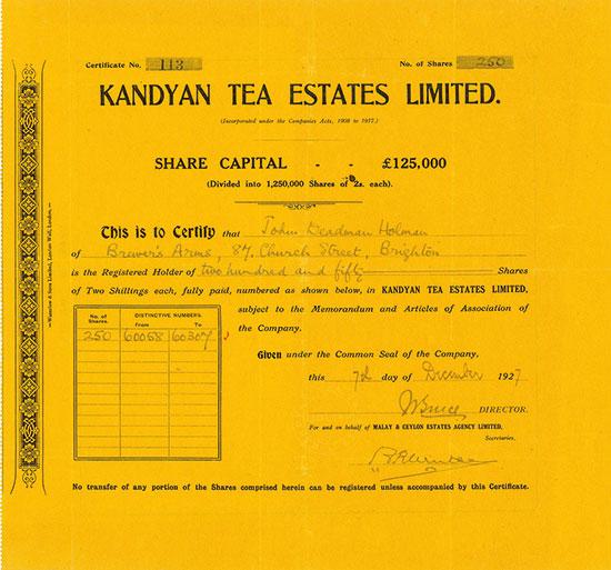 Kandyan Tea Estates Limited