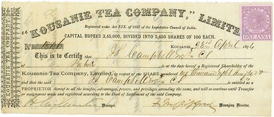 Kousanie Tea Company, Limited