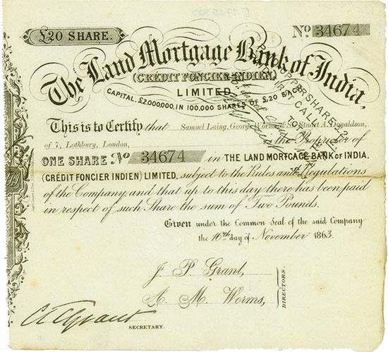 Land Mortgage Bank of India (Crédit Foncier Indien)