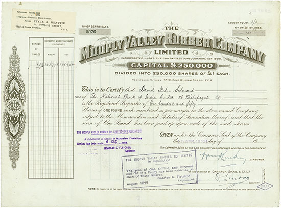 Mooply Valley Rubber Company, Limited