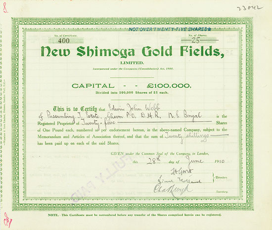 New Shimoga Gold Fields, Limited