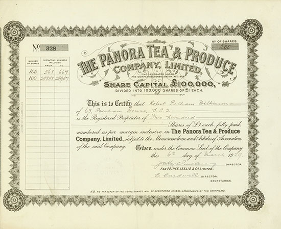 Panora Tea & Produce Company, Limited