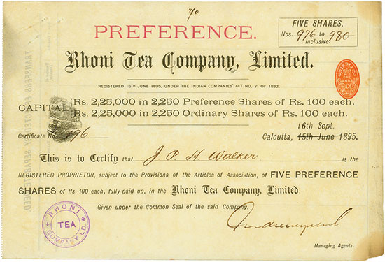 Rhoni Tea Company, Limited