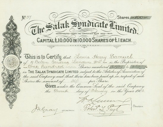 Salak Syndicate Limited