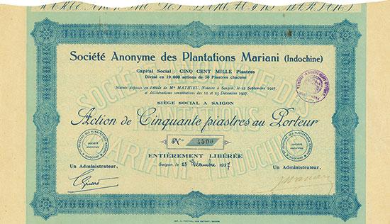 Société Anonyme des Plantations Mariani (Indochine)