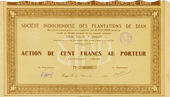Société Indochinoise des Plantations de Dian