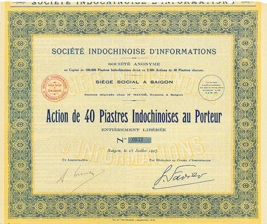 Société Indochinoise d'Informations Société Anonyme