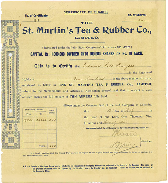 St. Martin's Tea & Rubber Co., Limited