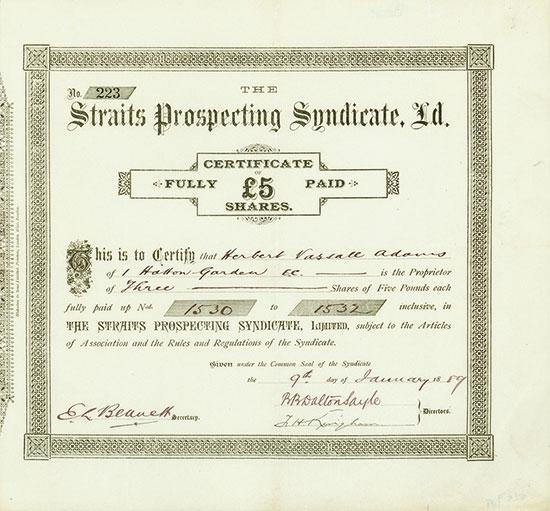 Straits Prospecting Syndicate, Ld.