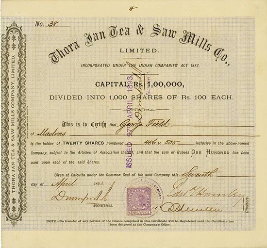 Thora Jan Tea & Saw Mills Co., Limited