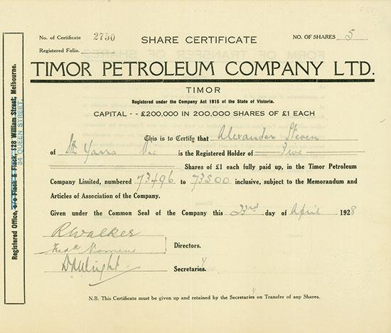 Timor Petroleum Company Ltd.