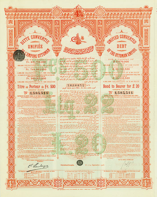 Unified Converted Debt of the Ottoman Empire