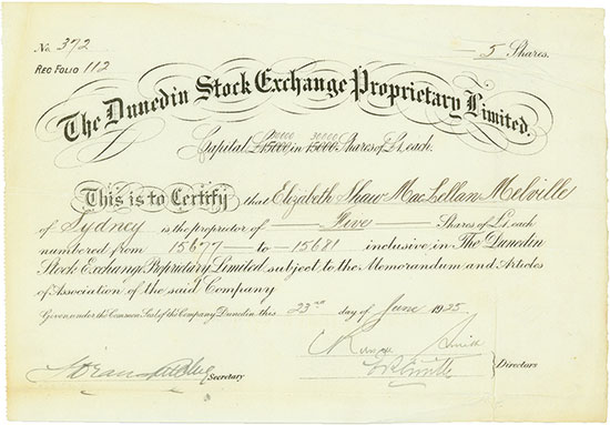 Dunedin Stock Exchange Proprietary Limited