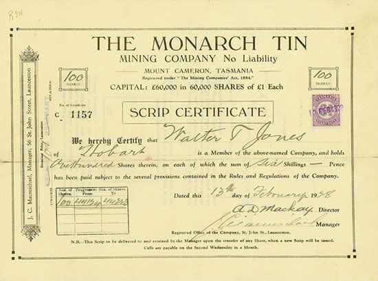 Monarch Tin Mining Company