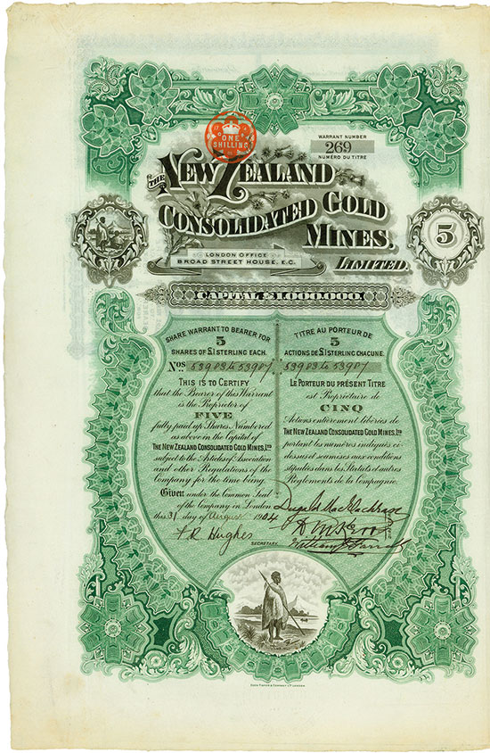 New Zealand Consolidated Gold Mines Limited