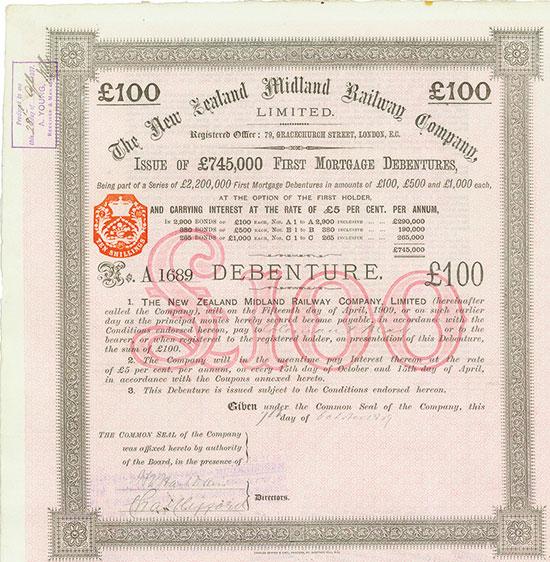 New Zealand Midland Railway Company, Limited