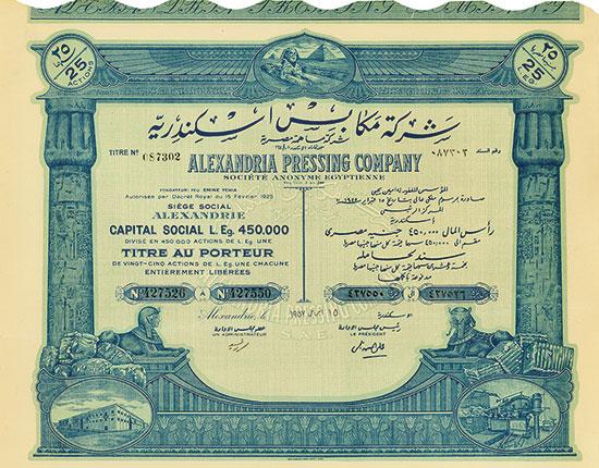 Alexandria Pressing Company Société Anonyme Égyptienne [2 Stück]