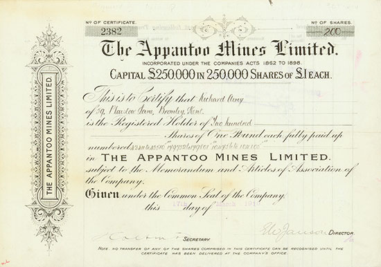 Appantoo Mines Limited