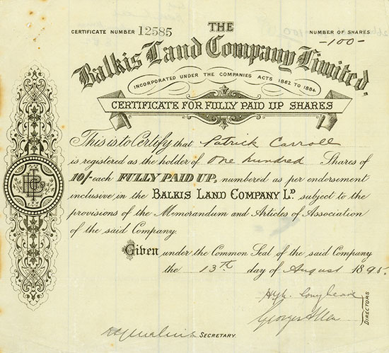 Balkis Land Company Limited