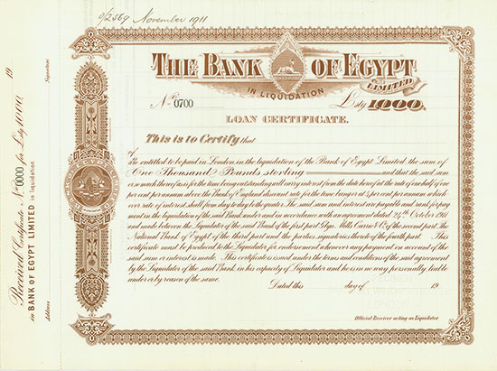 Bank of Egypt Limited in Liquidation