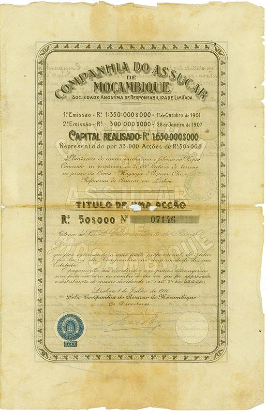 Companhia do Assucar de Moçambique [2 Stück]