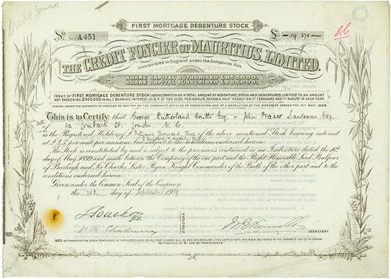 Crédit Foncier of Mauritius, Limited