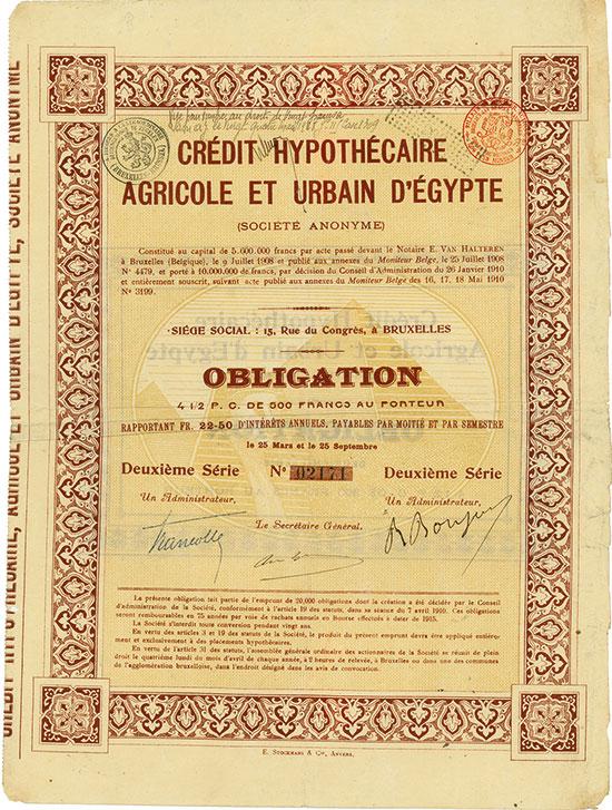 Crédit Hypothécaire Agricole et Urbain d'Égypte (Société Anonyme)
