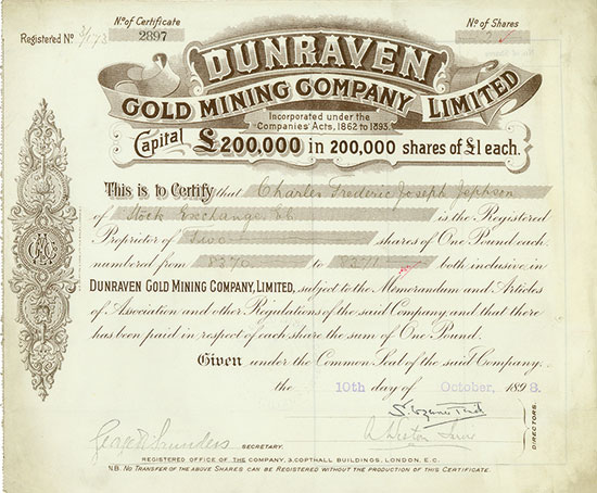 Dunraven Gold Mining Company, Limited