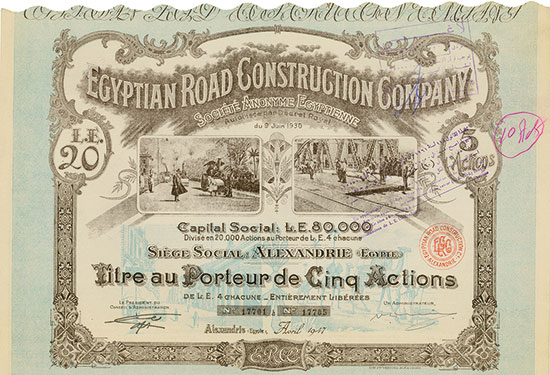 Egyptian Road Construction Company Société Anonyme Egyptienne