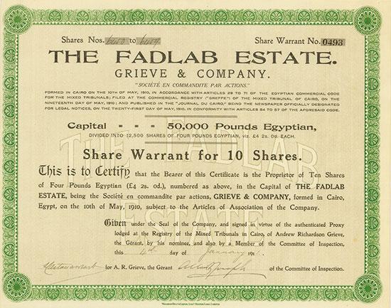 Fadlab Estate. Grieve & Company
