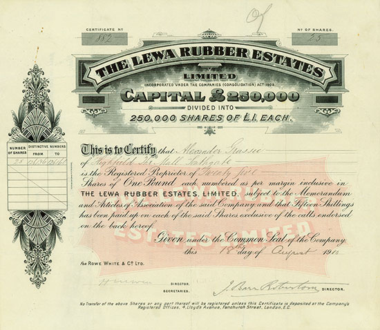 Lewa Rubber Estates, Limited