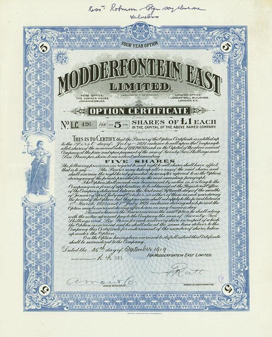 Modderfontein East Limited