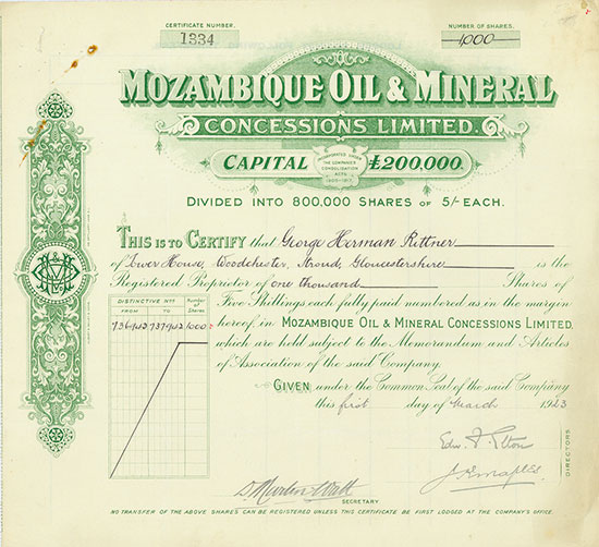 Mozambique Oil & Mineral Concessions Limited
