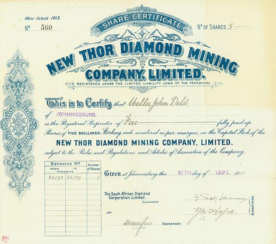 New Thor Diamond Mining Company, Limited
