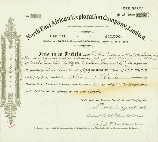 North East African Exploration Company, Limited
