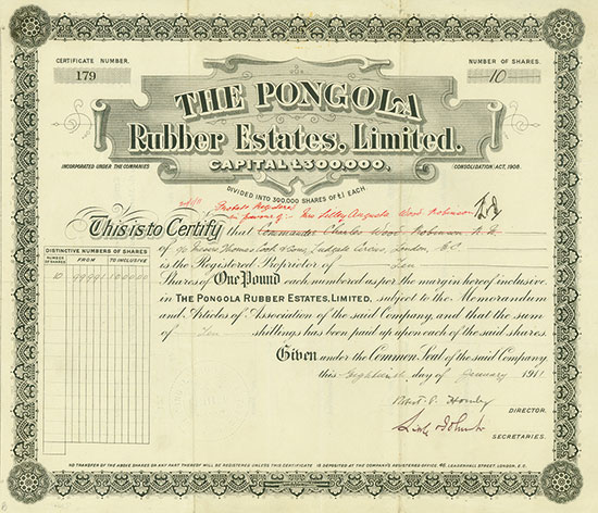 Pongola Rubber Estates, Limited