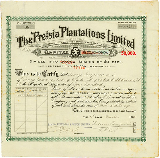 Pretsia Plantations Limited