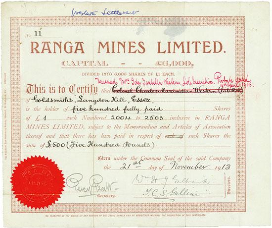 Ranga Mines Limited