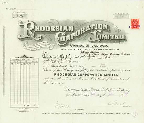 Rhodesian Corporation, Limited