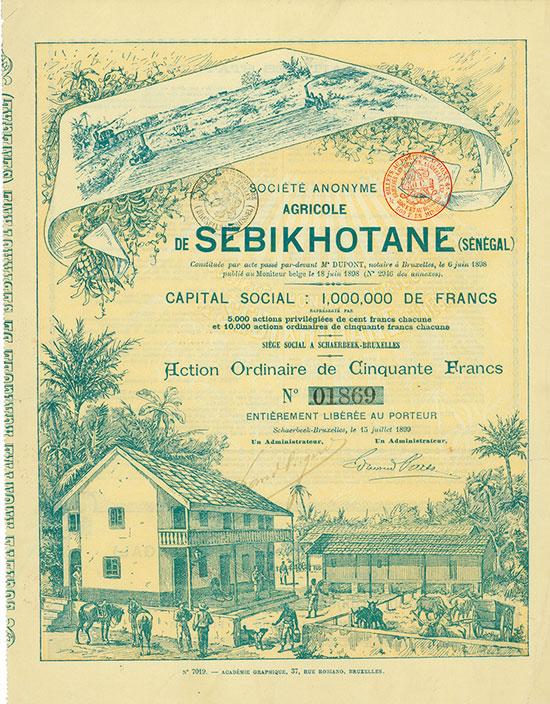 Société Anonyme Agricole de Sébikhotane (Sénégal)