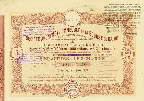 Société Anonyme de l'Immeuble de la Bourse du Caire Société Anonyme Egyptienne