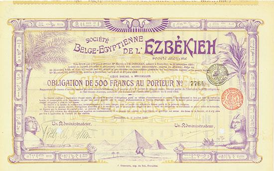 Société Belge-Egyptienne de l'Ezbékieh Société Anonyme [2 Stück]
