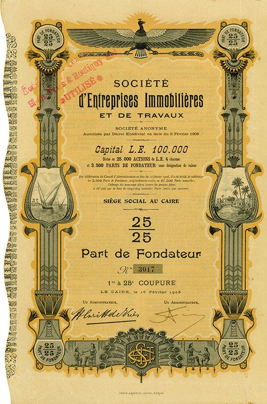 Société d'Entreprises Immobilières et de Travaux Société Anonyme