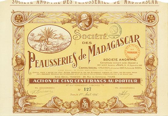 Société des Peausseries de Madagascar Société Anonyme
