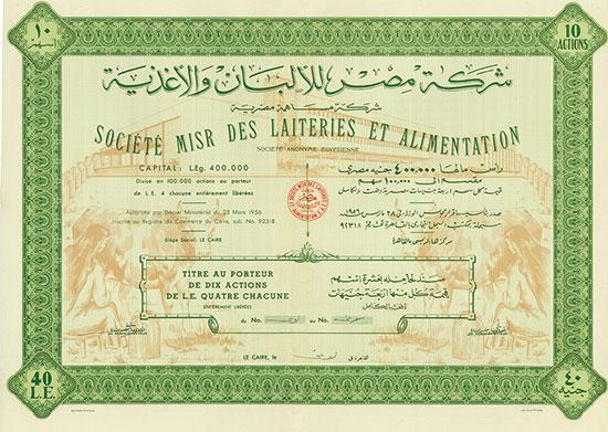 Société Misr des Laiteries et Alimentation Société Anonyme Égyptienne [2 Stück]