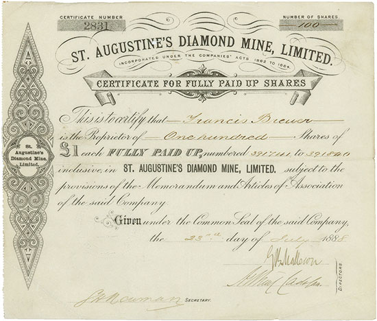 St. Augustine's Diamond Mine Limited