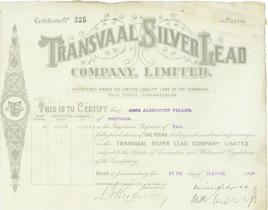 Transvaal Silver Lead Company, Limited