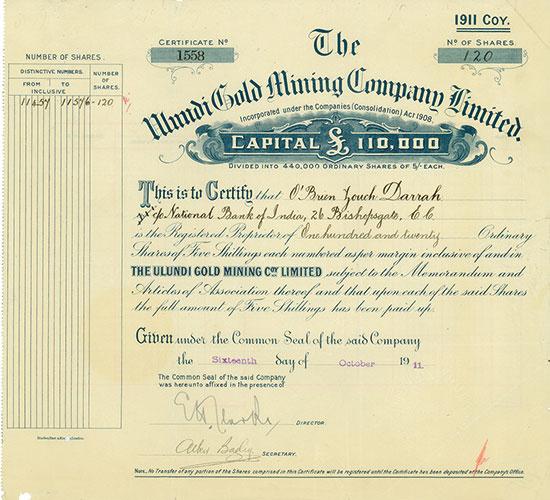 Ulundi Gold Mining Company Limited