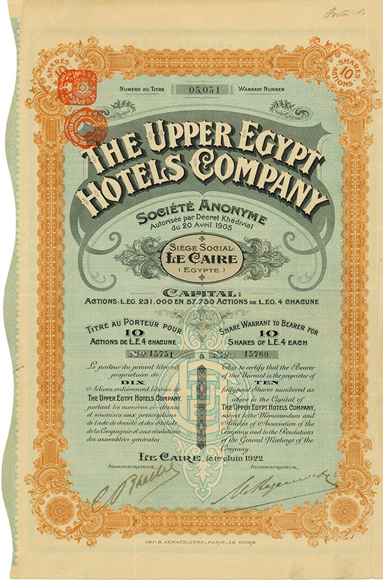 Upper Egypt Hotels Company Société Anonyme [2 Stück]